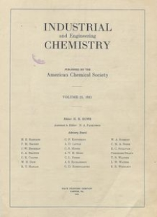 Industrial and Engineering Chemistry : industrial edition, Vol. 25, Subject Index