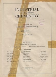 Industrial and Engineering Chemistry : industrial edition, Vol. 26, No. 4
