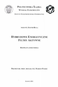 Hybrydowe energetyczne filtry aktywne