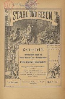 Stahl und Eisen, Jg. 6, No. 9
