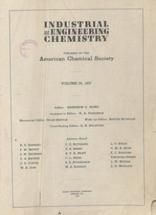 Industrial and Engineering Chemistry : industrial edition, Vol. 29, No. 1