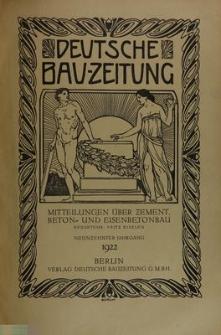 Deutsche Bauzeitung. Mitteilungen über Zement, Beton und Eisenbetonbau, Jg. 19, No.9