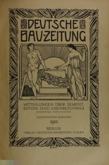 Deutsche Bauzeitung. Mitteilungen über Zement, Beton und Eisenbetonbau, Jg. 19, No.12