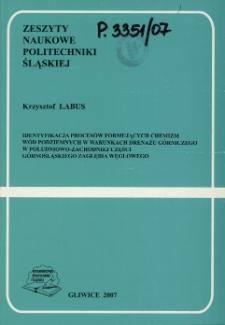 Identyfikacja procesów formujących chemizm wód podziemnych w warunkach drenażu górniczego w południowo-zachodniej części Górnośląskiego Zagłębia Węglowego