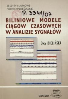Biliniowe modele ciągów czasowych w analizie sygnałów