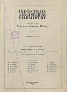 Industrial and Engineering Chemistry : industrial edition, Vol. 30, Subject Index
