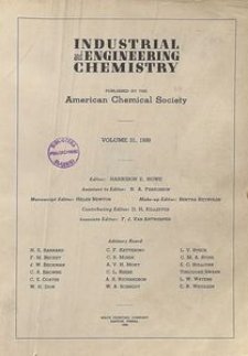 Industrial and Engineering Chemistry : industrial edition, Vol. 31, No. 8