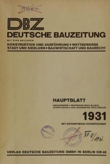 Deutsche Bauzeitung, Jg. 65, No.31-32