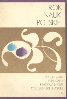 Bibliografia publikacji pracowników Politechniki Śląskiej. T. 3, 1969-1971