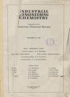 Industrial and Engineering Chemistry : industrial edition, Vol. 39, No. 1