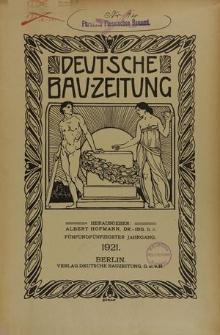 Deutsche Bauzeitung, Jg. 68, H. 33