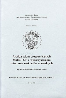 Analiza widm proteomicznych Maldi-TOF z wykorzystaniem mieszanin rozkładów normalnych