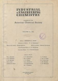 Industrial and Engineering Chemistry : industrial edition, Vol. 37, Subject Index