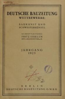 Deutsche Bauzeitung. Wettbewerbe: Baukunst und Schwesterkünste, Jg. 61, Nr. 20