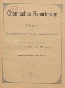 Chemisches Repertorium, Jg. 19, Inhalts-Verzeichniss