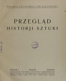 Przegląd Historji Sztuki, R. 1, 1929