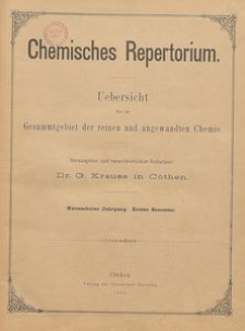 Chemisches Repertorium, Jg. 20, No. 9