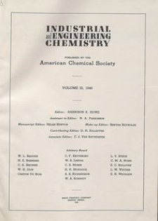Industrial and Engineering Chemistry : industrial edition, Vol. 32, Subject Index