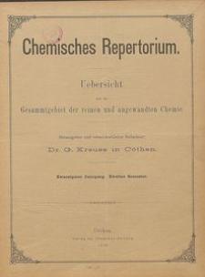 Chemisches Repertorium, Jg. 20, Inhalts-Verzeichniss