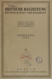 Deutsche Bauzeitung. Bauwirtschaft und Baurecht, Jg. 59, No. 3