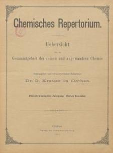 Chemisches Repertorium, Jg. 21, No. 1