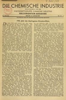Die Chemische Industrie, Jg. 66, Nr. 1/2