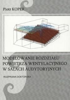Modelowanie rozdziału powietrza wentylacyjnego w salach audytoryjnych