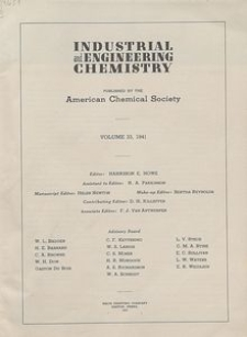 Industrial and Engineering Chemistry : industrial edition, Vol. 33, No. 1