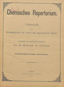 Chemisches Repertorium, Jg. 22, No. 5