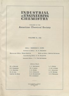 Industrial and Engineering Chemistry : industrial edition, Vol. 34, Author Index