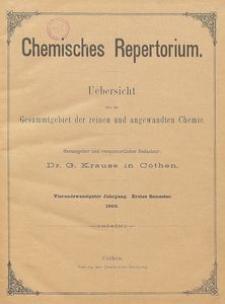 Chemisches Repertorium, Jg. 24, No. 10