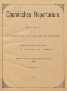 Chemisches Repertorium, Jg. 24, No. 18