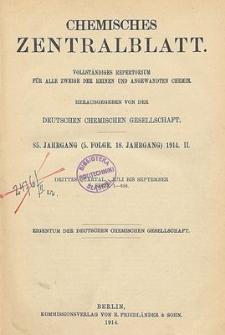 Chemisches Zentralblatt : vollständiges Repertorium für alle Zweige der reinen und angewandten Chemie, Jg. 85, Bd. 1, Nr.1