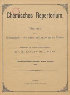 Chemisches Repertorium, Jg. 25, Inhalts-Verzeichniss
