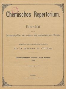 Chemisches Repertorium, Jg. 25, No. 6