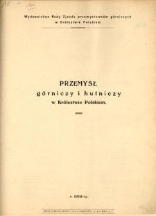 Przemysł górniczy i hutniczy w Królestwie Polskiem
