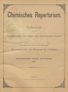 Chemisches Repertorium, Jg. 26, No. 1