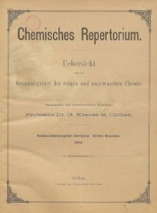 Chemisches Repertorium, Jg. 26, No. 14