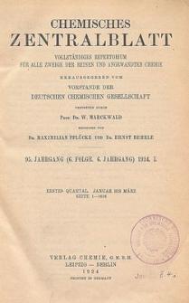 Chemisches Zentralblatt : vollständiges Repertorium für alle Zweige der reinen und angewandten Chemie, Jg. 95, Bd.2, Nr. 7