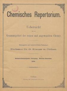Chemisches Repertorium, Jg. 26, Inhalts-Verzeichniss