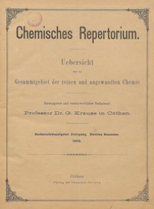 Chemisches Repertorium, Jg. 26, No. 30