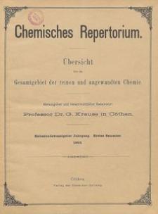 Chemisches Repertorium, Jg. 27, No. 8