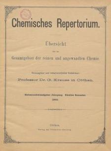 Chemisches Repertorium, Jg. 27, Inhalts-Verzeichniss