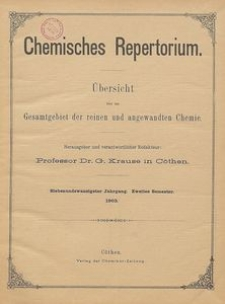 Chemisches Repertorium, Jg. 27, No. 22