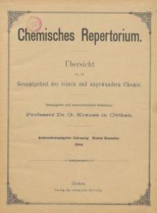 Chemisches Repertorium, Jg. 28, No. 8