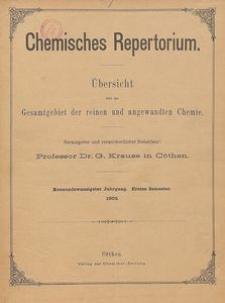 Chemisches Repertorium, Jg. 29, No. 1