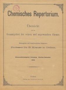 Chemisches Repertorium, Jg. 29, No. 27