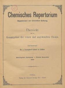 Chemisches Repertorium, Jg. 30, No. 3