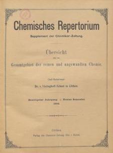 Chemisches Repertorium, Jg. 30, No. 8
