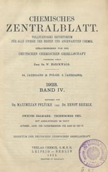 Chemisches Zentralblatt : vollständiges Repertorium für alle Zweige der reinen und angewandten Chemie, Jg. 94, Bd. 4, Autoren-Register